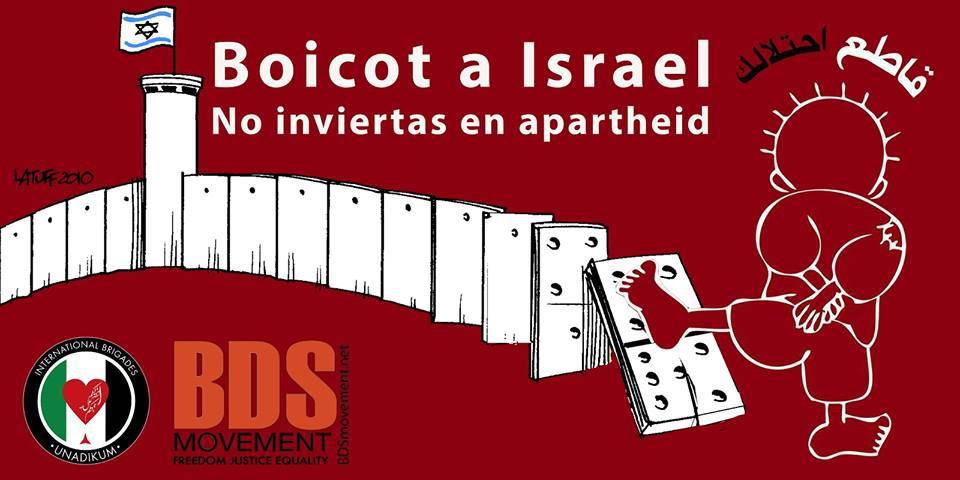 Resultado de imagen de Boicot, Desinversión y Sanciones (BDS