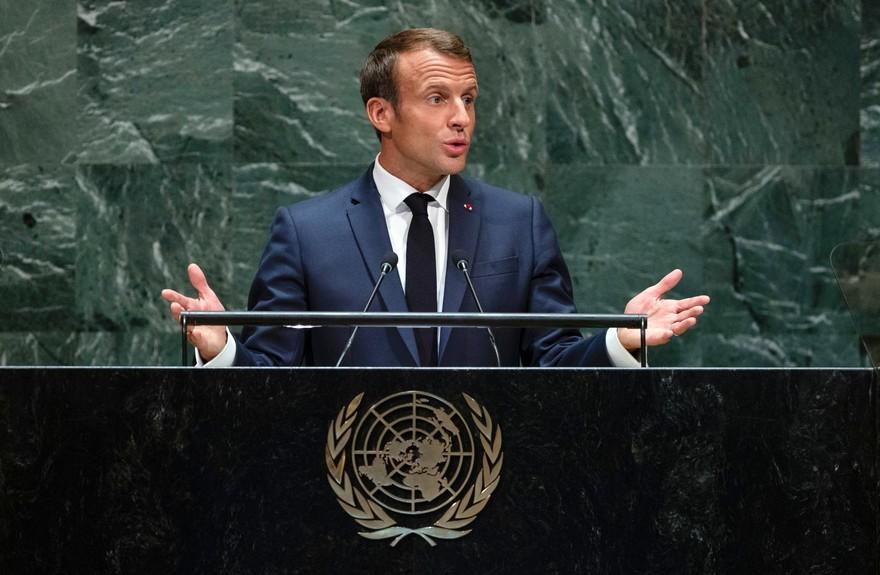 Macron: Una paz justa que que permita a los palestinos finalmente tener sus derechos